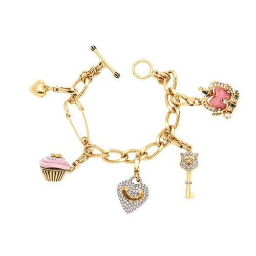 Juicy Couture Gold Charm Bracelet