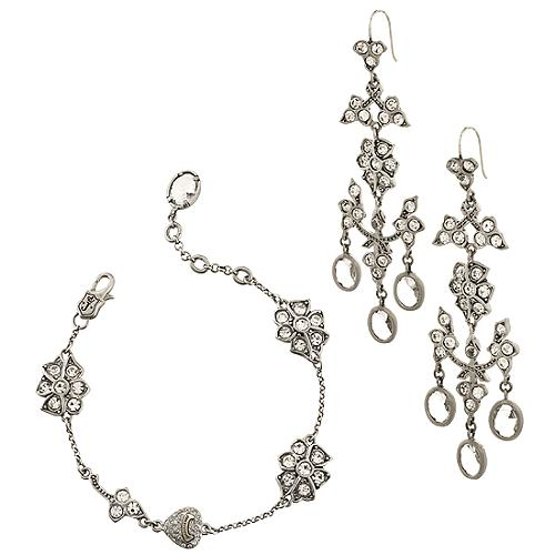 Juicy Couture Hidden Garden Bracelet & Earrings
