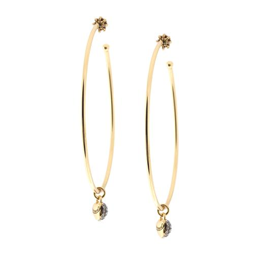 14dc202ff514d Juicy Couture 'Icons' Pave Heart Padlock Hoop Earrings