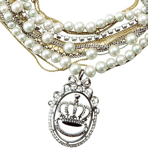 Juicy Couture Pearl Torsade with Crown Medallion