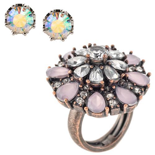 Juicy Couture Stud Earrings & Starburst Ring