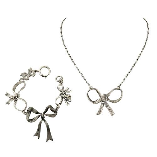 Juicy Couture Wishes & Icons Bow Necklace & Bracelet - FINAL SALE