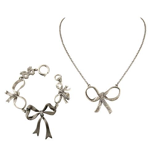 Juicy Couture Wishes & Icons Bow Necklace & Bracelet