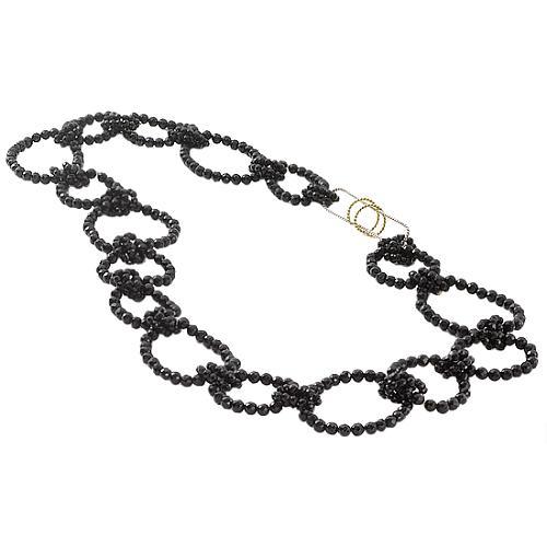 Kara Ross Black Onyx Large Link Necklace
