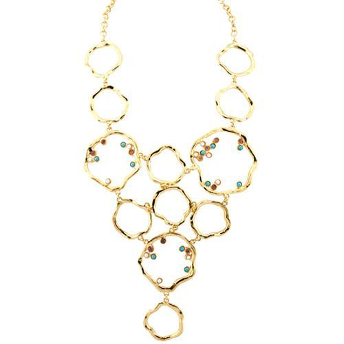 Kara Ross Flower Bib Necklace