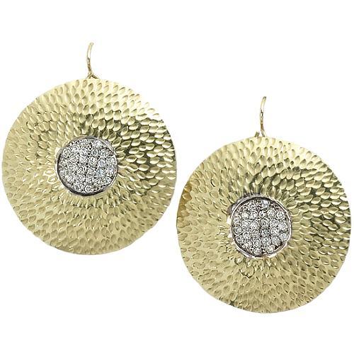 Kara Ross Hammered Earrings