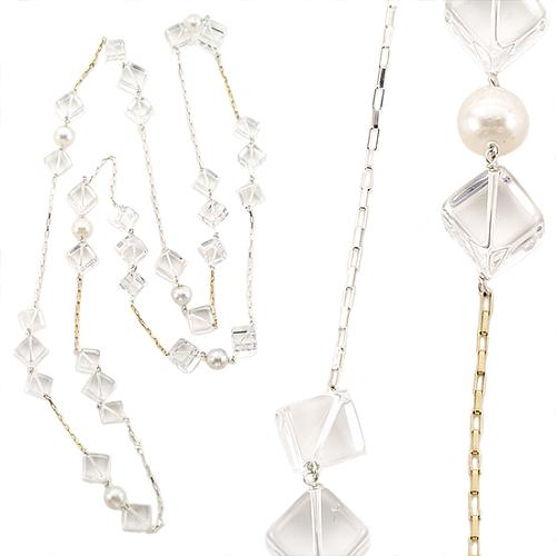 Kara Ross Pearl and Crystal Necklace