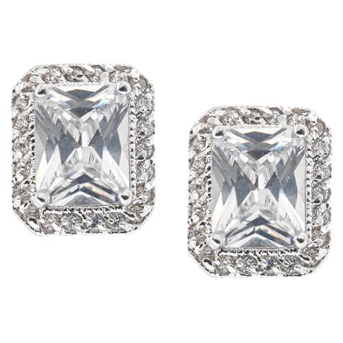 CZ by Kenneth Jay Lane Emerald Cut Earrings