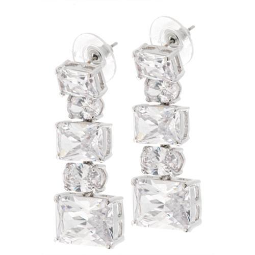 CZ by Kenneth Jay Lane Oval CZ Drop Earrings