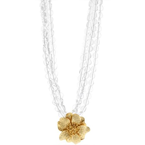 Kenneth Jay Lane 6 Row Flower Necklace