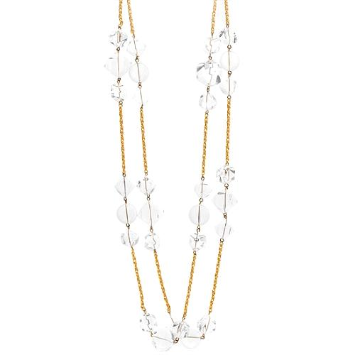 """Kenneth Jay Lane 60"""" Gold Necklace"""