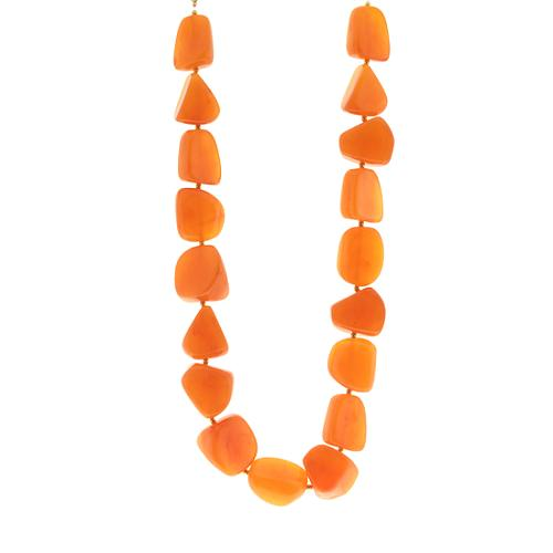 Kenneth Jay Lane Amber Necklace