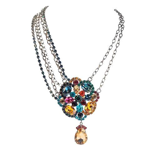 Kenneth Jay Lane Asymetrical Chain Necklace