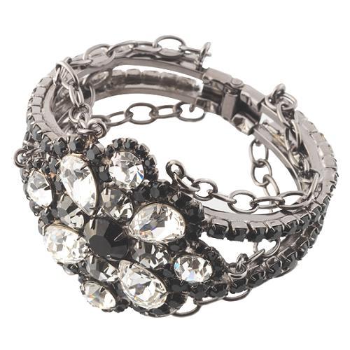Kenneth Jay Lane Black Diamond Crystal Cuff