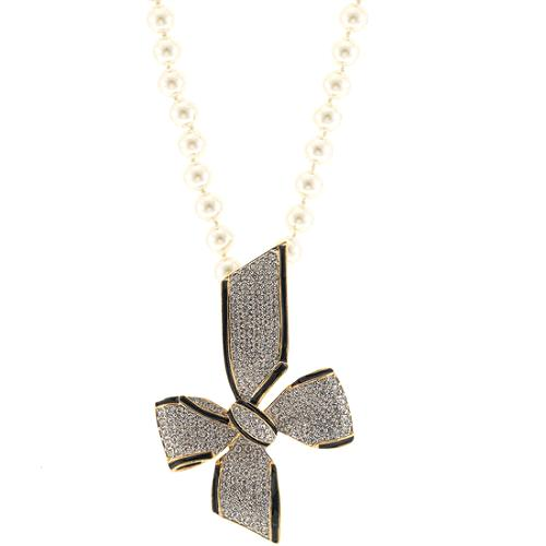 Kenneth Jay Lane Bow Clasp Necklace