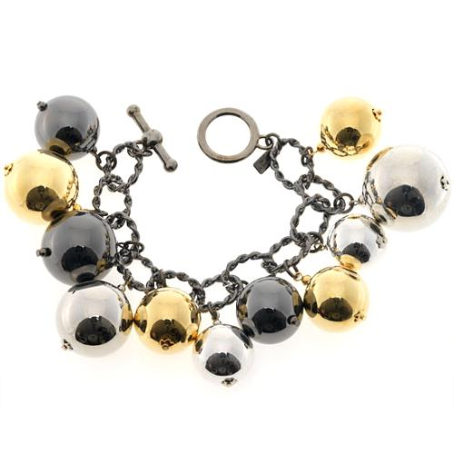 Kenneth Jay Lane Chain Link Ball Drop Bracelet
