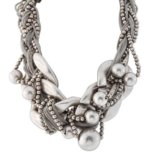 Kenneth Jay Lane Chain Link Braid Necklace