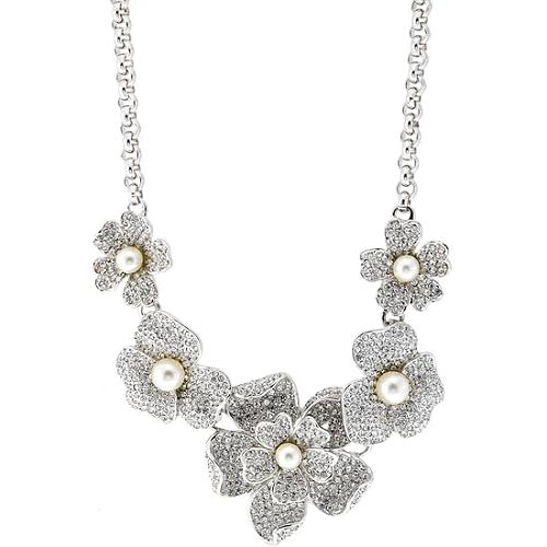 Kenneth Jay Lane Chain Link Flower Necklace
