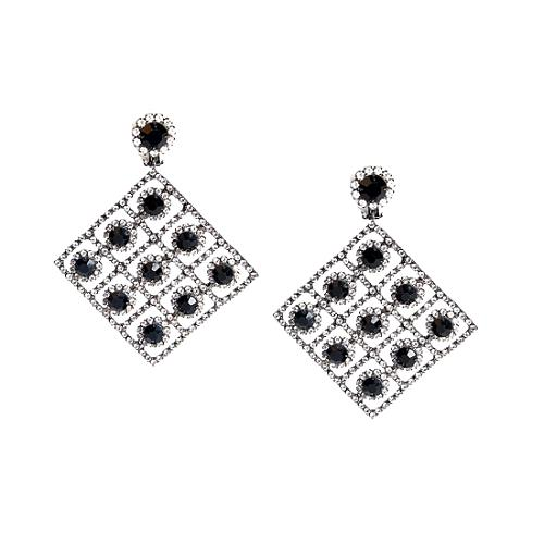 Kenneth Jay Lane Checkerboard Earrings