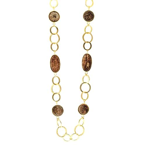 Kenneth Jay Lane Circle Link Necklace