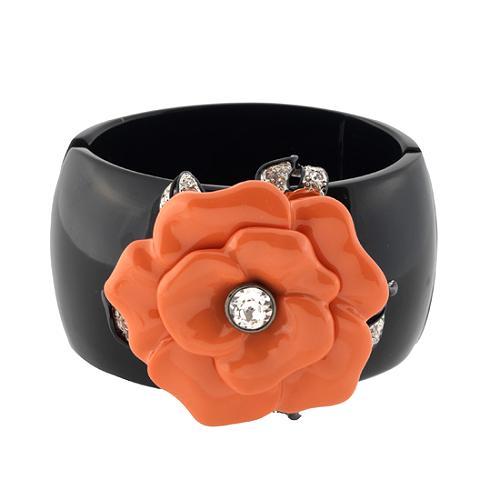 Kenneth Jay Lane Coral Flower Cuff