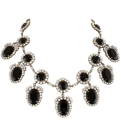 Kenneth Jay Lane Crystal Frame Drop Necklace