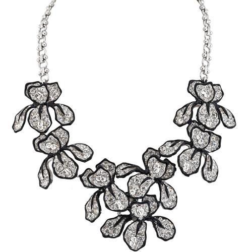 Kenneth Jay Lane Crystal Iris Necklace