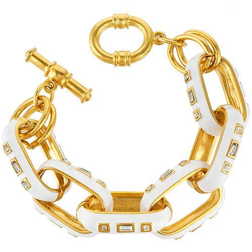 Kenneth Jay Lane Crystal Link Bracelet