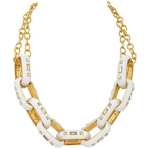 Kenneth Jay Lane Crystal Link Necklace