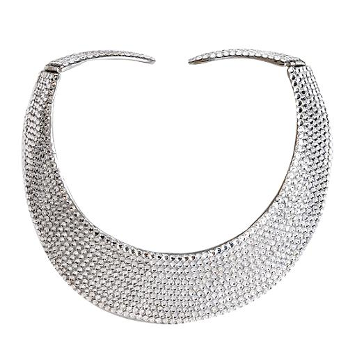 Kenneth Jay Lane Crystal Pavel Hinged Necklace