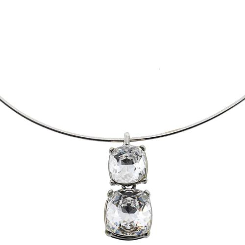 Kenneth Jay Lane Crystal Pendant Collar Necklace