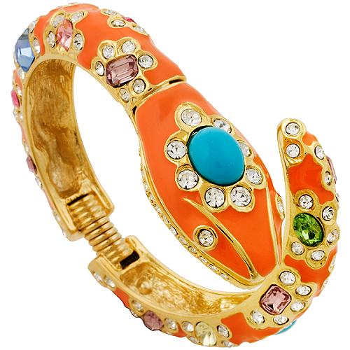 Kenneth Jay Lane Enamel Snake Bracelet