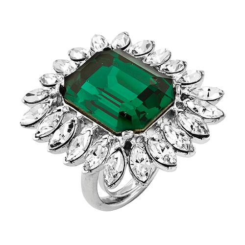 Kenneth Jay Lane Faux Emerald Green Ring