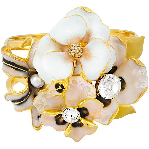 Kenneth Jay Lane Flower Cuff