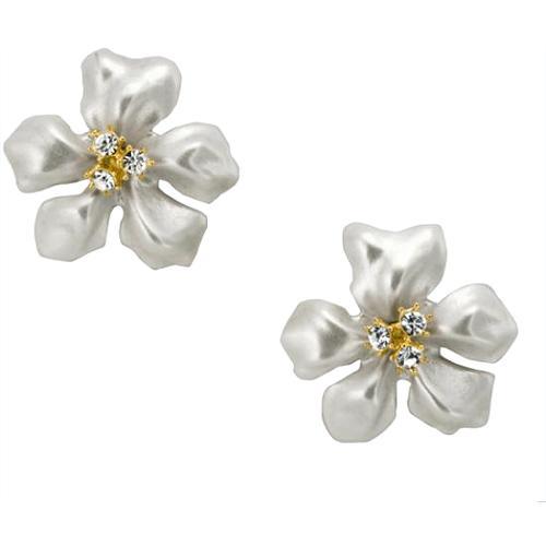 Kenneth Jay Lane Flower Pearl Earrings - FINAL SALE