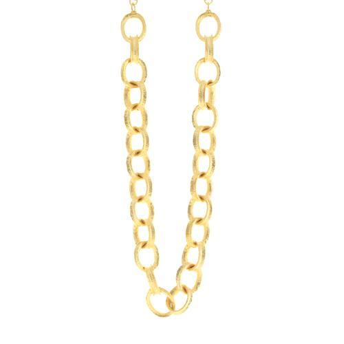 Kenneth Jay Lane Gold Oval Link Necklace