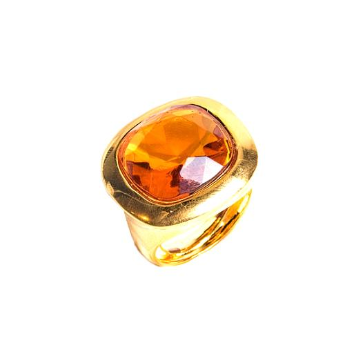 Kenneth Jay Lane Gold Stone Antique Gold Tone Ring
