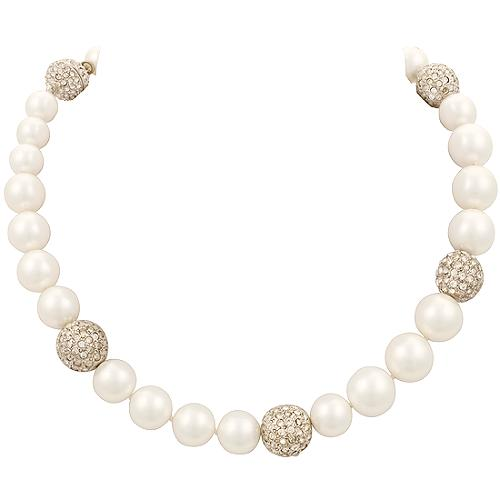 Kenneth Jay Lane Graduated White Shell Necklace