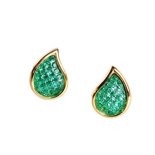 Kenneth Jay Lane Green Teardrop Earrings