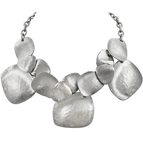 Kenneth Jay Lane Hammered Drop Necklace