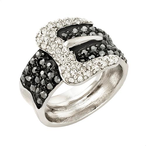 Kenneth Jay Lane Hematite Buckle Ring