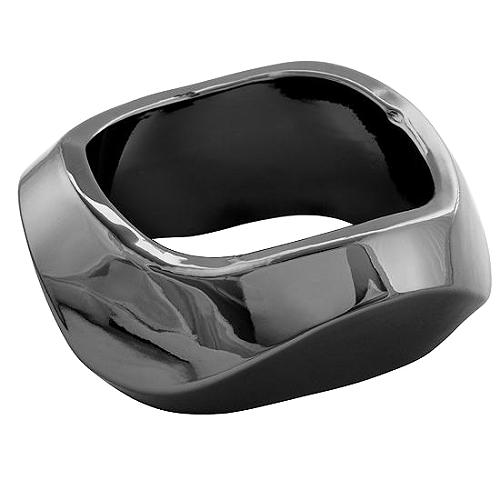 Kenneth Jay Lane Hematite Wave Bangle