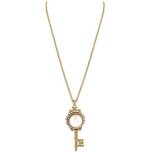 Kenneth Jay Lane Key Necklace