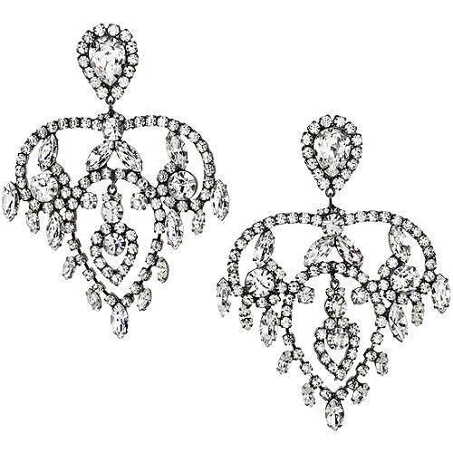 Kenneth Jay Lane Large Fancy Chandelier Earrings