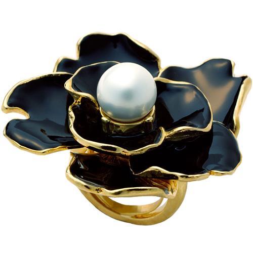 Kenneth Jay Lane Large Flower Ring