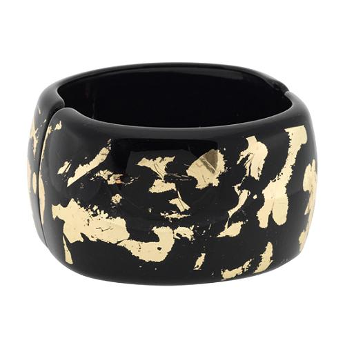 Kenneth Jay Lane Large Hinged Bangle