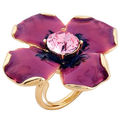 Kenneth Jay Lane Large Pink Flower Ring