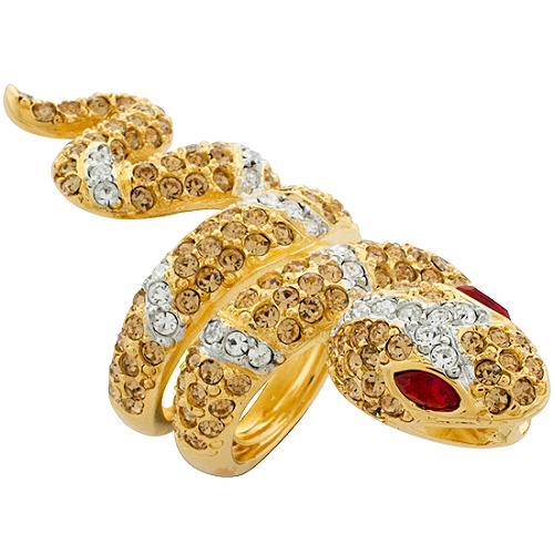 Kenneth Jay Lane Long Snake Ring