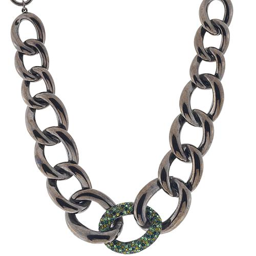 Kenneth Jay Lane Metal Link Necklace