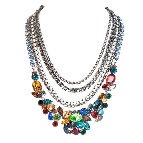 Kenneth Jay Lane Multi Strand Necklace